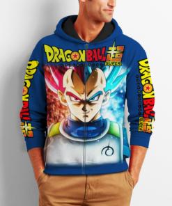 Prince Vegeta Zip Hoodie Cosplay Dragon Ball Shirt Anime Fan Gift VA06 - 2 - GearAnime