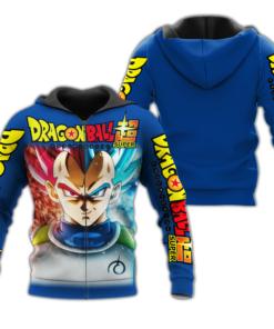 Prince Vegeta Zip Hoodie Cosplay Dragon Ball Shirt Anime Fan Gift VA06 - 1 - GearAnime
