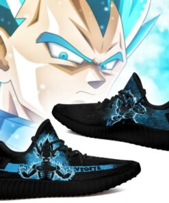 Vegeta Blue Yeezy Shoes Silhouette Dragon Ball Z Anime Shoes Fan MN04 - 2 - GearAnime
