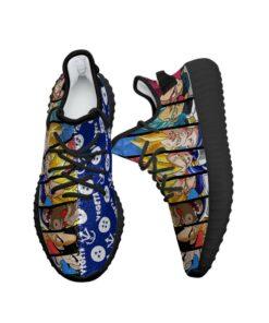 Vegeta Evolution Yeezy Shoes Dragon Ball Anime Sneakers Fan MN03 - 2 - GearAnime