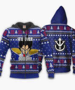 Vegeta Ugly Christmas Sweater It's Over 9000 Funny DBZ Xmas Gift VA10 - 2 - GearAnime